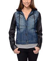 Dravus Hendrix Hooded Denim Vest Jacket