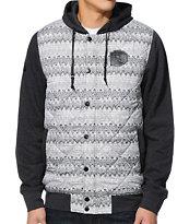 Dravus Holgate Charcoal Print Vest Hoodie