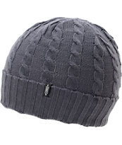 Dravus Kodey Charcoal Cable Knit Fold Beanie