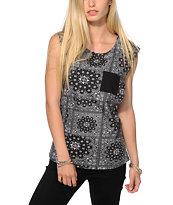 Dravus Lauryn Bandana Muscle T-Shirt