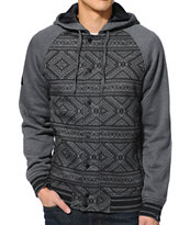Dravus Norton Charcoal Hooded Fleece Varsity Jacket