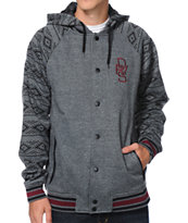 Dravus Norton Charcoal Varsity Hooded Jacket