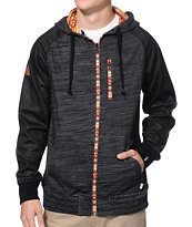 Dravus Plunder Charcoal Aztec Zip Up Hoodie
