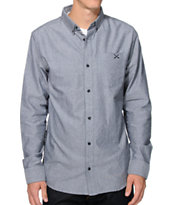 Dravus Reignwolf Black Oxford Long Sleeve Button Up Shirt