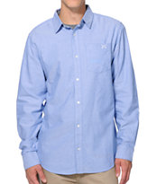 Dravus Reignwolf Blue Oxford Long Sleeve Button Up Shirt