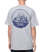 Dravus Rough Seas Grey Pocket Tee Shirt