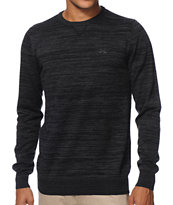 Dravus Slubben Black Crew Neck Sweater