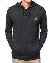 Dravus Tall Tale Black Henley Hooded Sweater