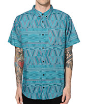 Dravus Tracks Tribal Button Up Shirt