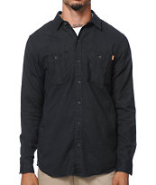 Dravus Twillz Grey Long Sleeve Flannel Shirt