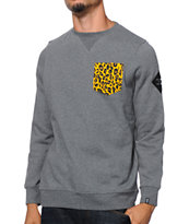 Dravus Variant Cheetah Charcoal Pocket Crew Neck Sweatshirt