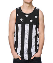 Dravus West Black & White Stars Tank Top