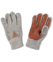 Dravus Worked Heather Gray Knit Gloves