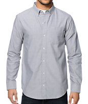 Dravus Zander Grey Long Sleeve Button Up Shirt