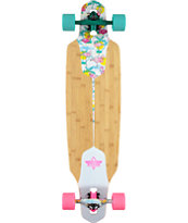 "Dusters Channel Flamingo 38"" Drop Through Longboard Complete"