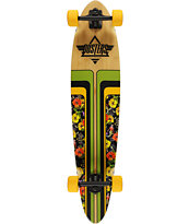 "Dusters Primo V2 Bamboo 40"" Pintail Longboard Complete"