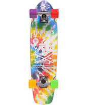 Dusters Racer Tie Dye 37 Cruiser Complete Skateboard