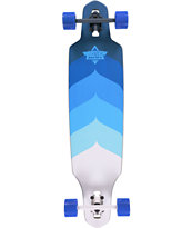 Dusters Wake Blue 34 Drop Through Longboard Complete