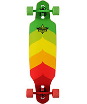 "Dusters Wake Rasta Fade 34.5"" Drop Through Longboard Complete"