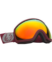 Electric EG2 Crimson Red 2013 Bronze & Red Snowboard Goggles