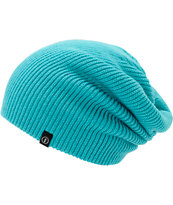 Electric Gauges Solid Aqua Slouch Beanie