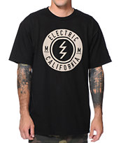 Electric Slant Black Tee Shirt
