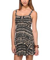 Element Beaumont Black Tribal Print Dress
