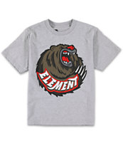 Element Boys Bear Claw Grey Tee Shirt