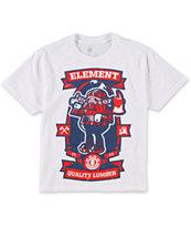Element Boys Burley White T-Shirt