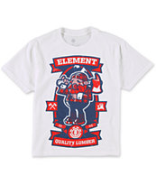 Element Boys Burley White Tee Shirt