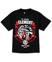Element Boys Raccoon Black Tee Shirt