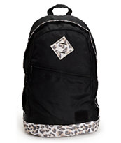 Element Cammie Leopard Print Black Backpack