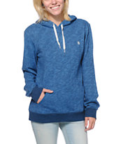 Element Girls Sequel Blue Overdyed Pullover Hoodie