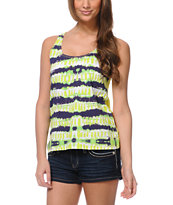 Element Nessa Lime Green Mesh Racerback Tank Top
