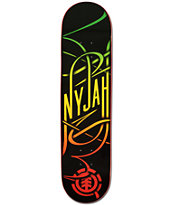 Element Nyjah Huston Rasta Swash 7.75 Skateboard Deck