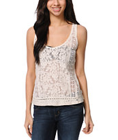 Element Shannon Natural Crochet Tank Top