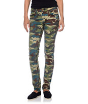 Element Tatum Camo Print Skinny Jeggings