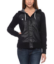 Element Women's Squad Black Hooded Varsity Jacket