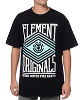 Element Zig Zag Black & Mint Tee Shirt