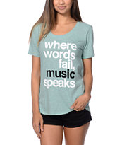Element x Jac Vanek Music Green Boyfriend Tee Shirt