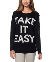 Element x Jac Vanek Slacker Take It Easy Black Sweater