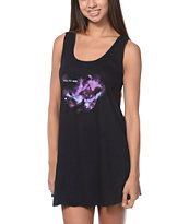 Element x Jac Vanek You Fit Here Black Open Back Tank Dress