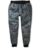 Elwood Bandana Charcoal Fleece Skinny Jogger Pants