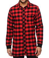 Elwood Extra Long Side Zip Flannel Shirt