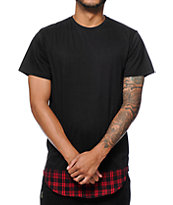 Elwood Flannel Plaid Round Hem T-Shirt