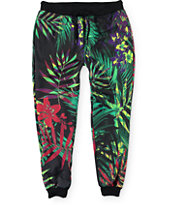 Elwood Floral Palms Sublimated Jogger Pants