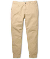Elwood Khaki Chino Skinny Jogger Pants