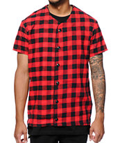 Elwood Plaid Flannel Baseball Jersey T-Shirt