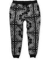 Elwood Silver Metallic Bandana Jogger Pants