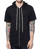 Elwood Spek Black Short Sleeve Zip Up Hoodie at Zumiez : PDP